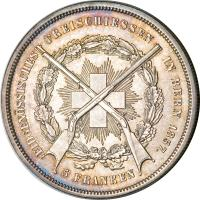 obverse of 5 Francs - Shooting Festival (1857) coin with X# S4 from Switzerland.