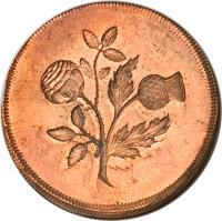 reverse of 1/2 Penny - Anne (1707) coin with KM# PnA34 from United Kingdom.