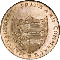 obverse of 1/2 Penny - Kent / Sandwich (1794) coin with DH# 39 from United Kingdom.