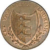 obverse of 1/2 Penny - Norfolk / Yarmouth (1792) coin with DH# 51 from United Kingdom.