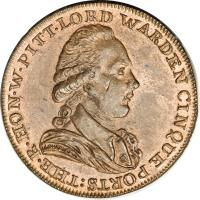 obverse of 1/2 Penny - Dover / Kent (1794) coin with DH# 16 from United Kingdom.