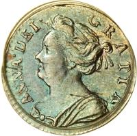 obverse of 1 Penny - Anne - Maundy Coinage (1703 - 1713) coin with KM# 512 from United Kingdom. Inscription: ANNA · DEI · GRATIA ·