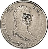 obverse of 6 Shillings 1 Penny - George III (1810) coin with KM# 1.2 from Belize.