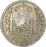 reverse of 6 Shillings 1 Penny - George III (1810) coin with KM# 1.2 from Belize.