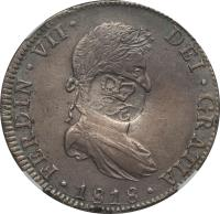 obverse of 6 Shillings 1 Penny - George III - Countermarked (1811 - 1818) coin with KM# 2 from Belize.