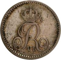 obverse of 32 Rigsbankskilling - Frederik VI (1818 - 1820) coin with KM# 690 from Denmark. Inscription: FR VI