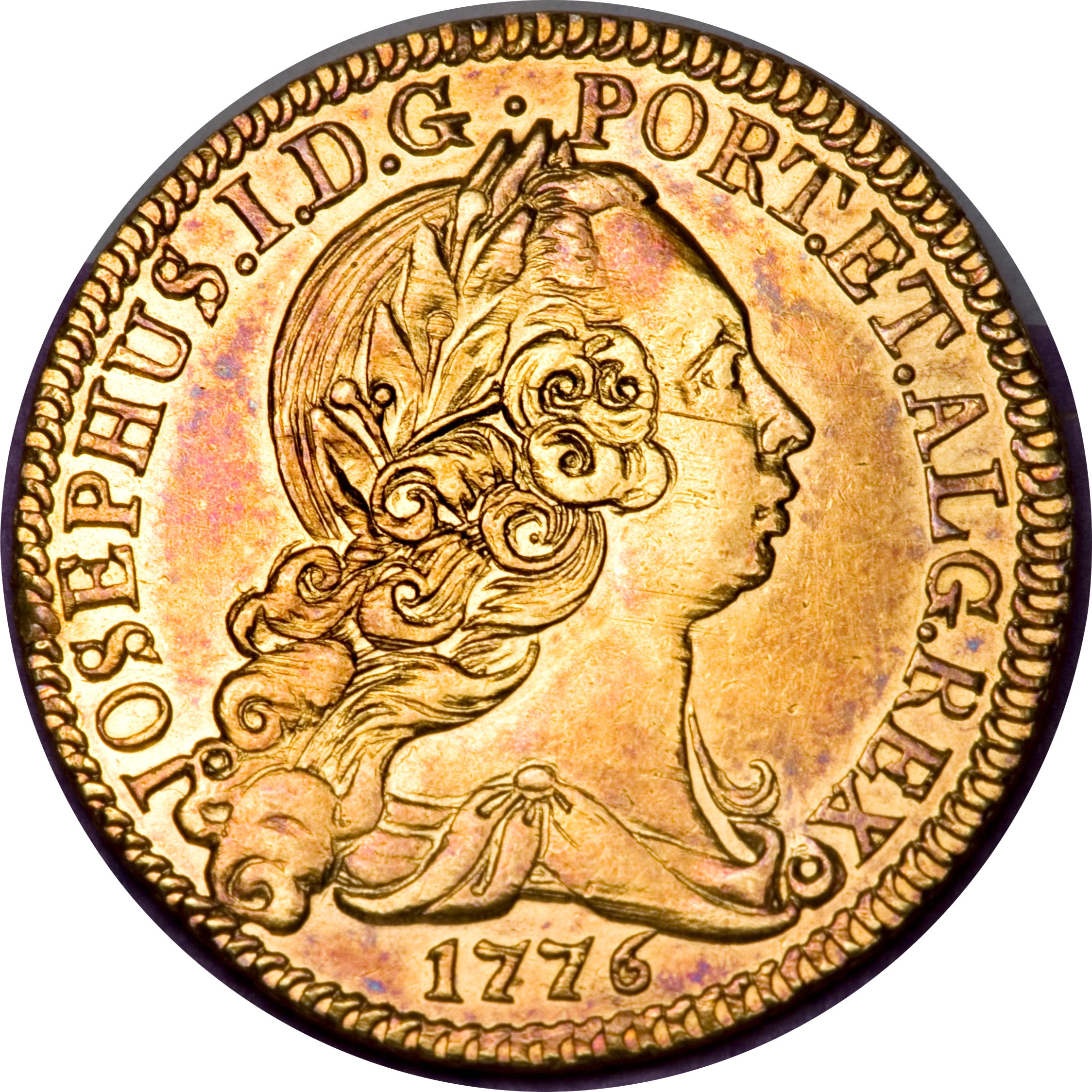 obverse of 1/2 Peça - José I (1751 - 1776) coin with