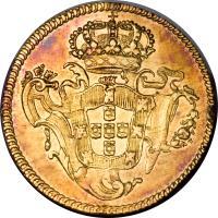reverse of 1/2 Peça - José I (1751 - 1776) coin with KM# 246 from Portugal.