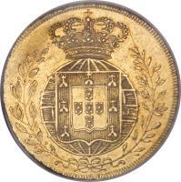 reverse of 1/2 Peça - João VI (1818 - 1823) coin with KM# 363 from Portugal.