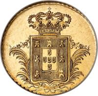 reverse of 1/2 Peça - Miguel (1830 - 1831) coin with KM# 396 from Portugal.