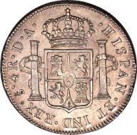 reverse of 4 Reales - Carlos IV - Colonial Milled Coinage (1789 - 1791) coin with KM# 38 from Chile.