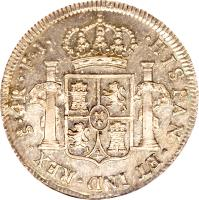 reverse of 4 Reales - Fernando VII - Colonial Milled Coinage (1808 - 1815) coin with KM# 67 from Chile.