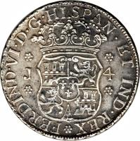 obverse of 4 Reales - Fernando IV (1754 - 1760) coin with KM# 17 from Guatemala.