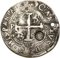 obverse of 8 Reales - Countermarked (1839) coin with KM# 96.1 from Guatemala.