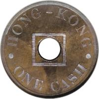 obverse of 1 Cash (1863) coin with KM# Pn61 from Hong Kong.