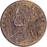 obverse of 1 Cent - Victoria (1863) coin with KM# Pn72 from Hong Kong.