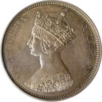 obverse of 1 Cent - Victoria (1862) coin with KM# Pn27 from Hong Kong.