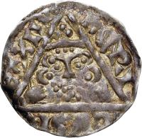 obverse of 1 Penny - Henry III - Dublin mint (1251 - 1254) coin with SP# 6236 from Ireland. Inscription: hENRI | CVS R | ЄX | III