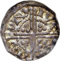 reverse of 1 Penny - Henry III - Dublin mint (1251 - 1254) coin with SP# 6236 from Ireland. Inscription: RIC | ARD | ON D | IVЄ