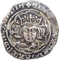 obverse of 1 Groat - Edward IV - Dublin mint (1470 - 1473) coin with SP# 6304 from Ireland. Inscription: + ЄDWARDVS : DЄI : GRA : DnS : hYBЄRnIЄ
