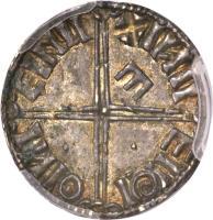reverse of 1 Penny (1015 - 1035) coin with SP# 6126 from Ireland. Inscription: + IИII | EIIΘI | ΘIИI | EINII