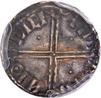 reverse of 1 Penny - Long Cross without Hand (1015 - 1035) coin with SP# 6125a from Ireland. Inscription: + IИ | RIFN | ИHΘ | DICI