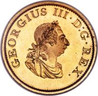 obverse of 1 Penny - George III (1805) coin with SP# 6620a from Ireland. Inscription: GEORGIUS III.D:G.REX.