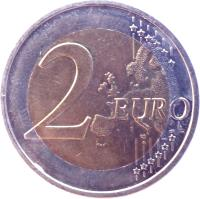 reverse of 2 Euro - Treaty of Rome (2007) coin with KM# 259 from Germany. Inscription: 2 EURO LL