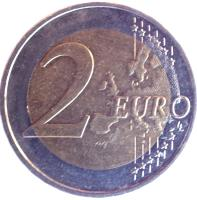 reverse of 2 Euro - Federal States: Hamburg (2008) coin with KM# 261 from Germany. Inscription: 2 EURO LL