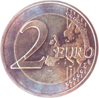 reverse of 2 Euro - Federal States: Niedersachsen (2014) coin with KM# 334 from Germany. Inscription: 2 EURO LL