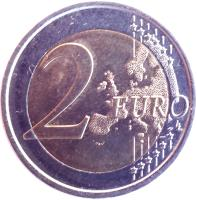 reverse of 2 Euro - Juan Carlos I - Great Mosque of Córdoba (2010) coin with KM# 1152 from Spain. Inscription: 2 EURO LL