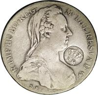 obverse of 1 Thaler - Countermarked Coinage (1780) coin with KM# 45 from Mozambique.