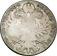 reverse of 1 Thaler - Countermarked Coinage (1780) coin with KM# 45 from Mozambique.