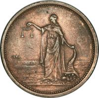 obverse of 1 Penny - D. Anderson, Wellington coin with KM# Tn3 from New Zealand.
