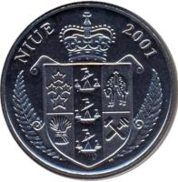 obverse of 1 Dollar - Elizabeth II - Pikachu (2001) coin with KM# 137 from Niue. Inscription: NIUE 2001