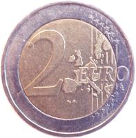 reverse of 2 Euro - Olympic Games (2004) coin with KM# 209 from Greece. Inscription: 2 EURO LL