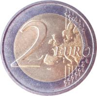 reverse of 2 Euro - Treaty of Rome (2007) coin with KM# 311 from Italy. Inscription: 2 EURO LL