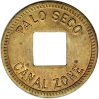 obverse of 1 Cent - Palo Seco Leprosarium (1919) coin with KM# Tn1 from Panama. Inscription: PALO SECO CANAL ZONE