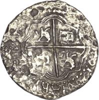 reverse of 4 Reales - Felipe IV (1659 - 1660) coin with KM# 17 from Peru.