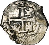 obverse of 4 Reales - Carlos II (1684 - 1700) coin with KM# 23 from Peru.