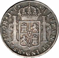 reverse of 4 Reales - Carlos IV (1791 - 1808) coin with KM# 96 from Peru.