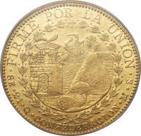 reverse of 8 Escudos - South Peru, confederation (1837 - 1838) coin with KM# 171 from Peru.