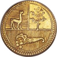 obverse of 1/2 Escudo - North Peru (1838) coin with KM# 159 from Peru.