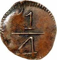 reverse of 1/4 Real - Fernando VII - Maracaibo (1813) coin with KM# 1 from Venezuela.