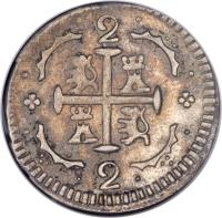 reverse of 2 Reales (1830) coin with C# 36 from Venezuela.