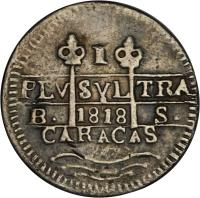 obverse of 1 Real - Fernando VII (1817 - 1821) coin with C# 5 from Venezuela.