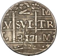 obverse of 2 Reales - Macuquinas (142 - 1817) coin with C# 13 from Venezuela.