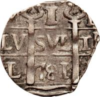 obverse of 1 Real - Macuquinas (182 - 931) coin with C# 12 from Venezuela.