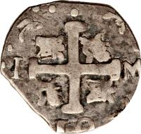 reverse of 1 Real - Macuquinas (182 - 931) coin with C# 12 from Venezuela.