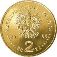 obverse of 2 Złote - Polish Kings and Princes: Stanisław August Poniatowski (1764-1795) (2005) coin with Y# 530 from Poland. Inscription: RZECZPOSPOLITA POLSKA 2005 ZŁ 2 ZŁ